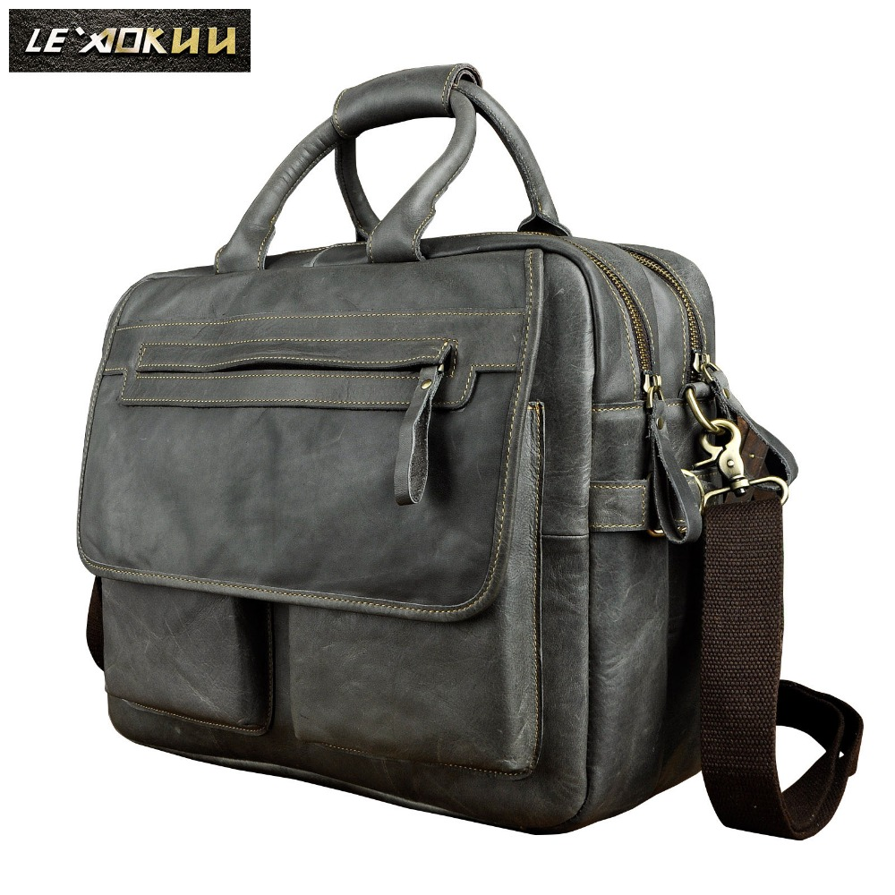 Business, Attache, Genuine, Leather, Briefcase, Commercia