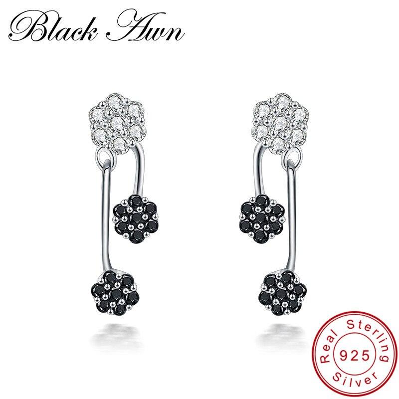 [BLACK AWN] Шарм 100% Срібло 925 Срібні - Вишукані прикраси