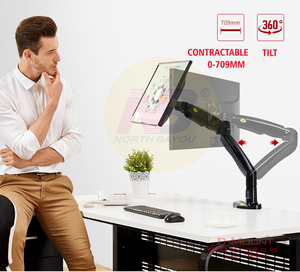 Image 2 - NB F100A Gas Spring Arm 22 35 inch Screen Monitor Holder 360 Rotate Tilt Swivel Desktop Monitor Mount Arm with Two USB3.0 Ports
