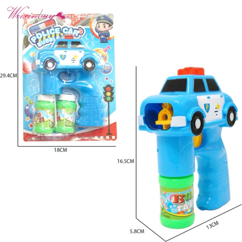 Outdoor Automatic Electric Toy Car Fire Engine Soap Blow Bubbles Gun Machine Music Light Water Gun Kids Game Bubble High Quality image
