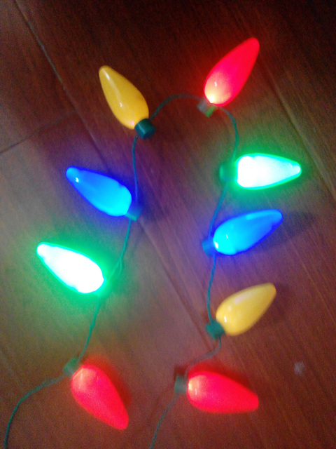 9 led light up christmas bulb necklace party favors decoration for