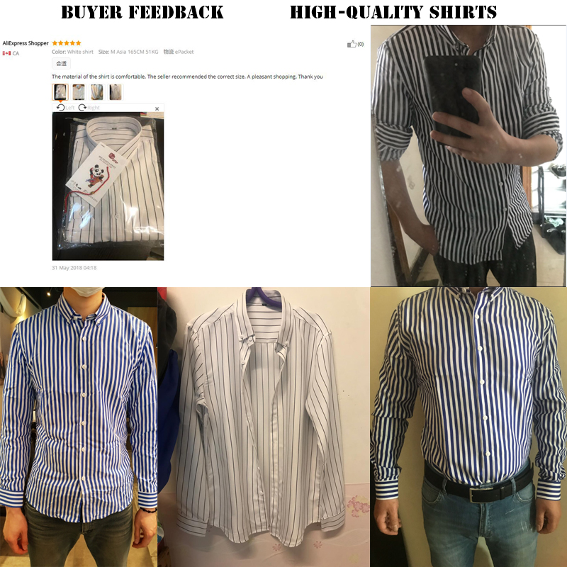 T-bird Shirt Men 2018 New Striped Long Sleeves Mens Dress Shirts Camisa Masculina Spring Summer Brand Casual Male Shirt Tops 5XL 3