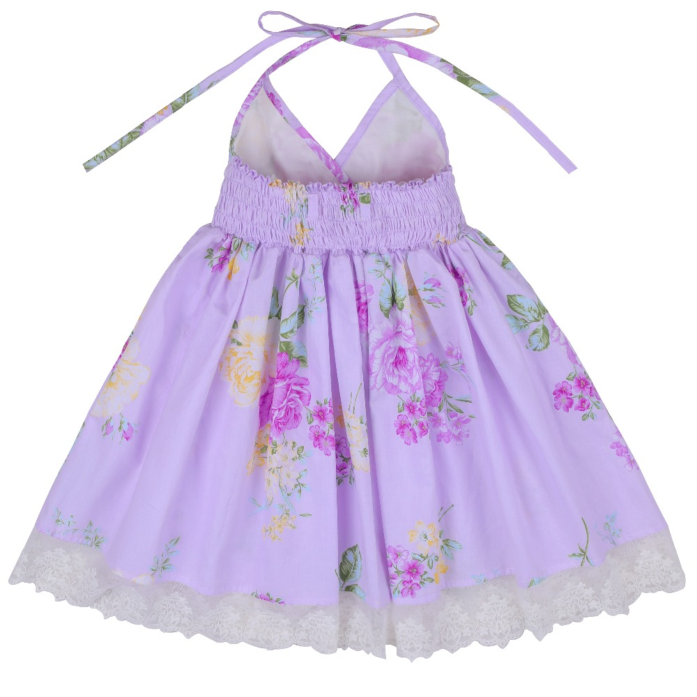 3eafb70201 Flofallzique Toddler Clothes 2018 Summer Vintage Floral Print Backless  Design for Girls Wedding Party Princess Dresses 1 8Y-in Dresses from Mother    Kids on ...