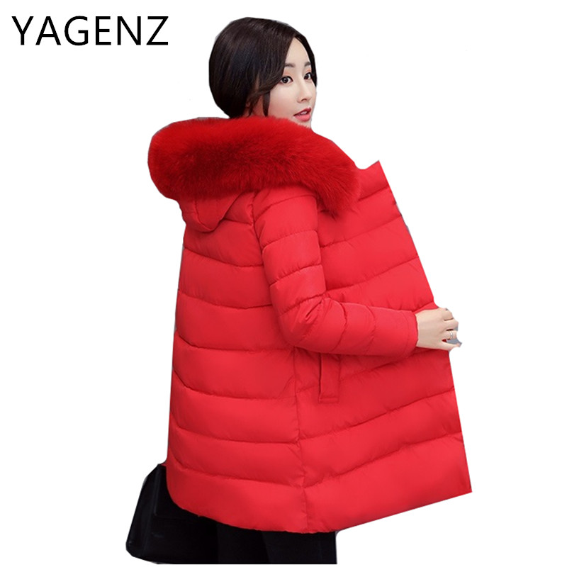 Winter Cotton Jacket Hooded Coats Women Clothing Down cotton Parkas Lady Overcoat Plus Size Medium Long Solid Warm Jacket Female plus size winter womens down cotton coats jacket warm thick cotton hooded long parkas for women winter thicker overcoat qh0864