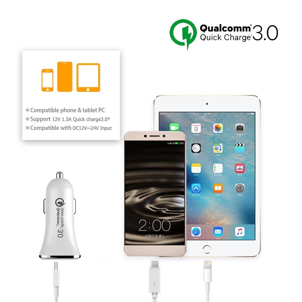 Tikono Qualcomm Quick Charge 3.0 5V 3A Snabb USB-billaddare för - Reservdelar och tillbehör för mobiltelefoner - Foto 6