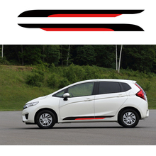 car stickers 2pc Boat paddle styling side door stripe graphic vinyl  modified accessories custom for Honda fit 2014