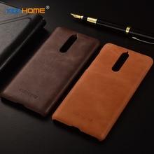 Для Nokia 8 чехол KEZiHOME матовый пояса из натуральной кожи жесткий задняя крышка для Nokia 8 5,3 »телефонные чехлы