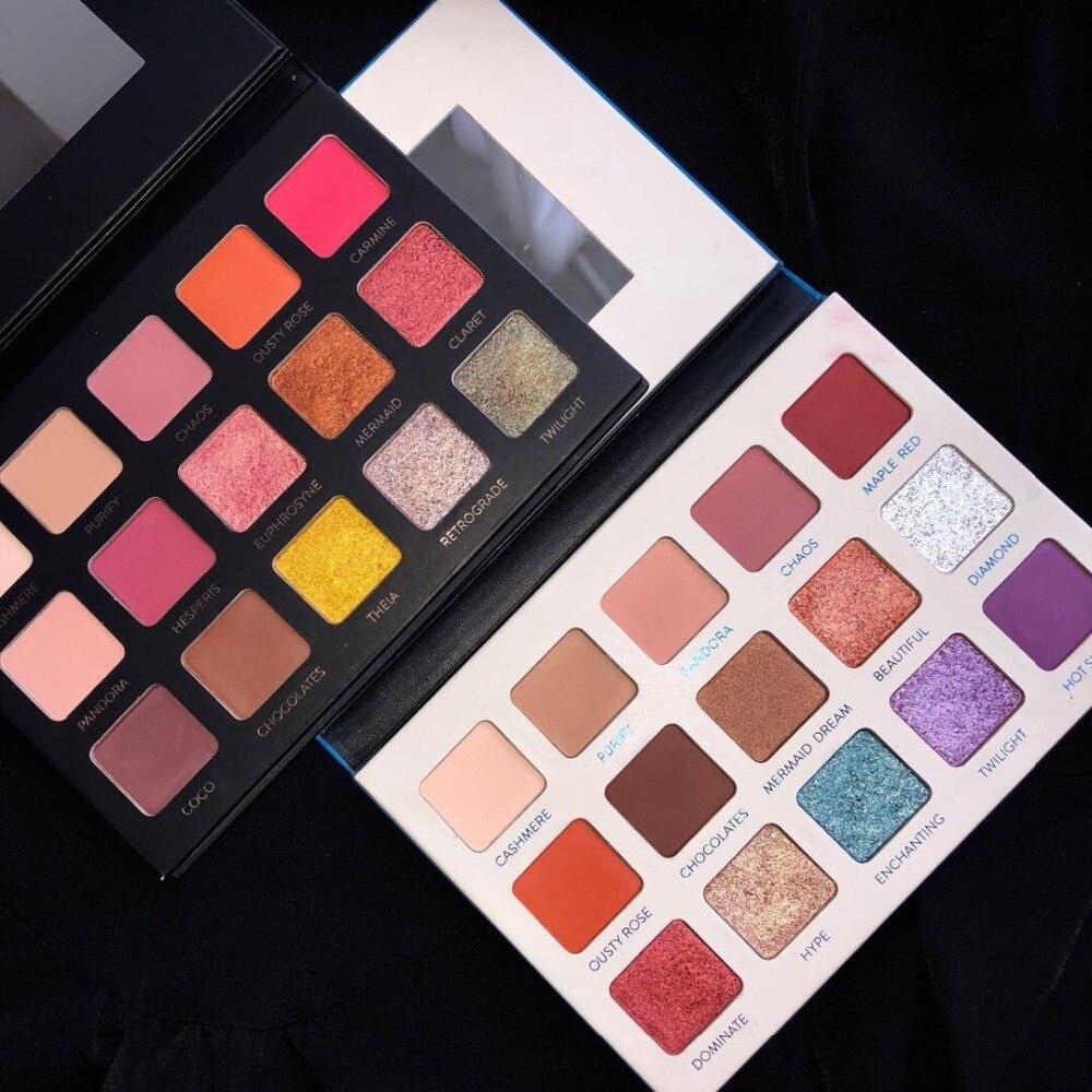 Aurelife 15 farben MEER HERZ & Matte MATAL lidschatten Pallete Erde Schimmer Lidschatten Make-Up Glitter Nackt lidschatten-palette