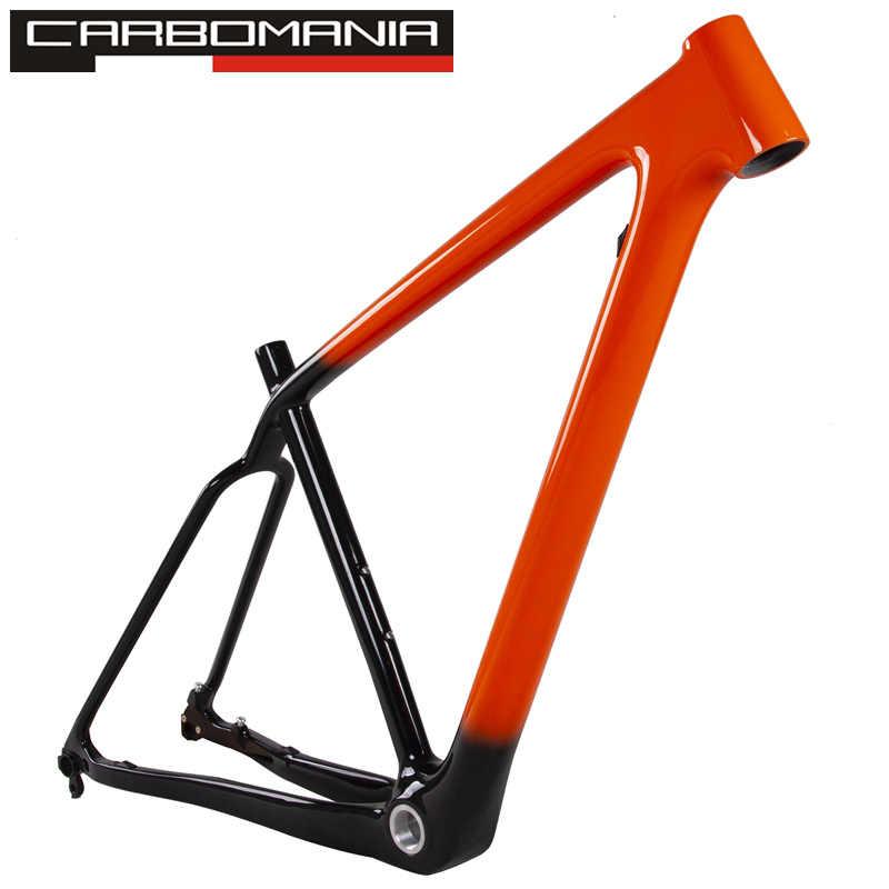 """Cadre de vélo de montagne en carbone 29er 29 pouces cadre de frein à disque vtt de marque carbomania 1-1/8 """"à 1-1/2"""" livraison gratuite 29 """"pouces"""