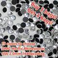 Comprar 3 Sacos Obter 4 Sacos! 15 Cores DMC Hotfix Strass SS6 Tamanho 2.0mm 1440 pçs/saco Apoio Cola Ferro Em Diamantes De Vidro DIY