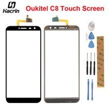 Хорошее Oukitel C8 Сенсорный экран Сенсор 5,5 дюймов идеальный ремонт Запчасти touch Панель + Инструменты + клей для Oukitel C8 мобильного телефона + набор инструментов