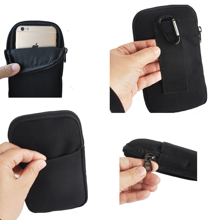50PCS New Universal Oxford <font><b>Cell</b></font> <font><b>Phone</b></font> Bag <font><b>Belt</b></font> <font><b>Clip</b></font> Pouch Waist Purse Case Cover For LG G4 H810 VS999 F500 For Iphone For Huawei