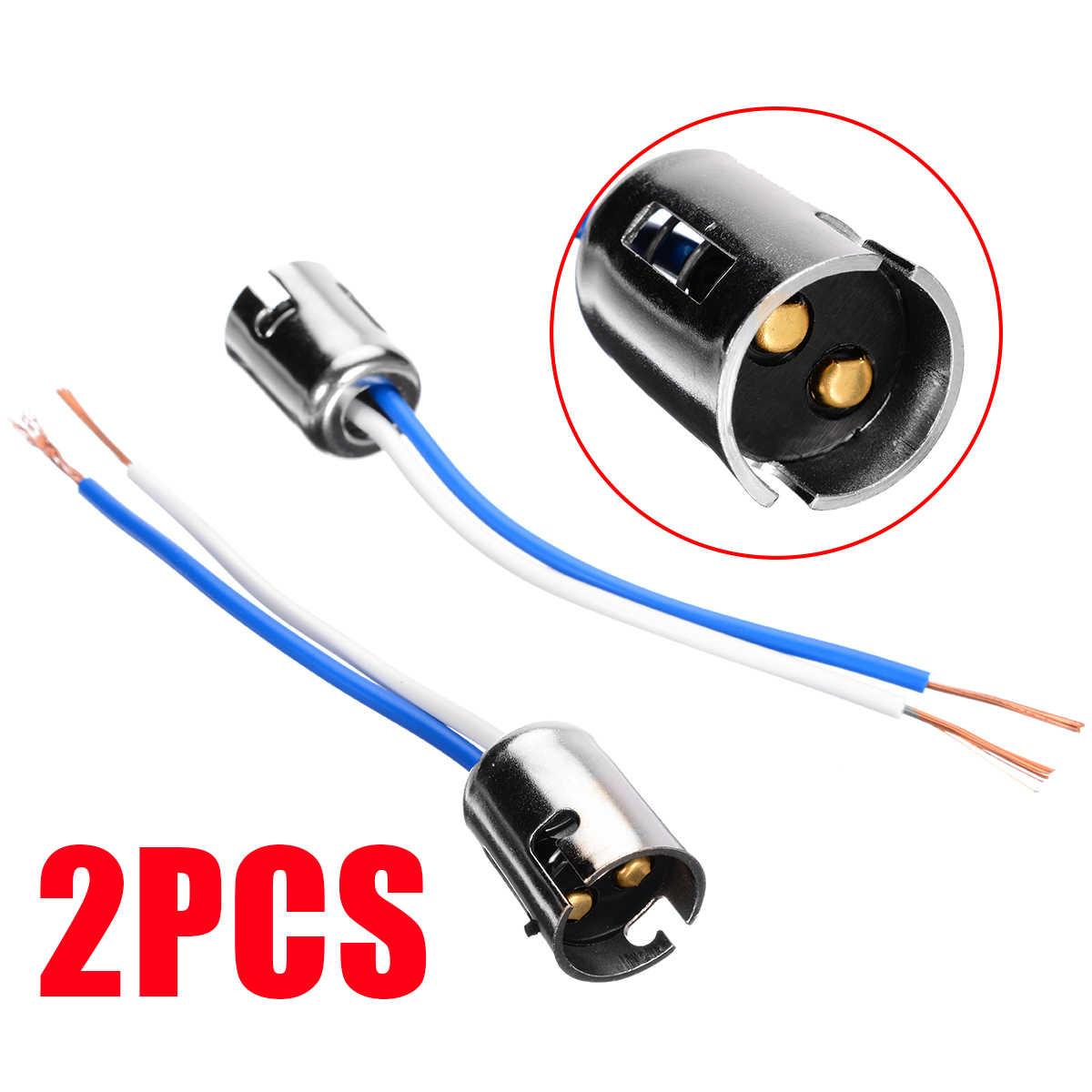 רכב אלקטרוניקה חלקי 2pcs Bay15d 1157 הנורה שקע מחבר כידון רכב זנב בלם הנורה הארכת חוט לרתום שקע