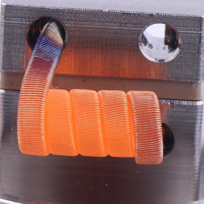 XFKM 50 stücke Clapton Alien NI80 SS316L a1 Heizung Drähte Hohe Qualität Nichrom verschmolzen Clapton Für RDA RTA Zerstäuber Spule