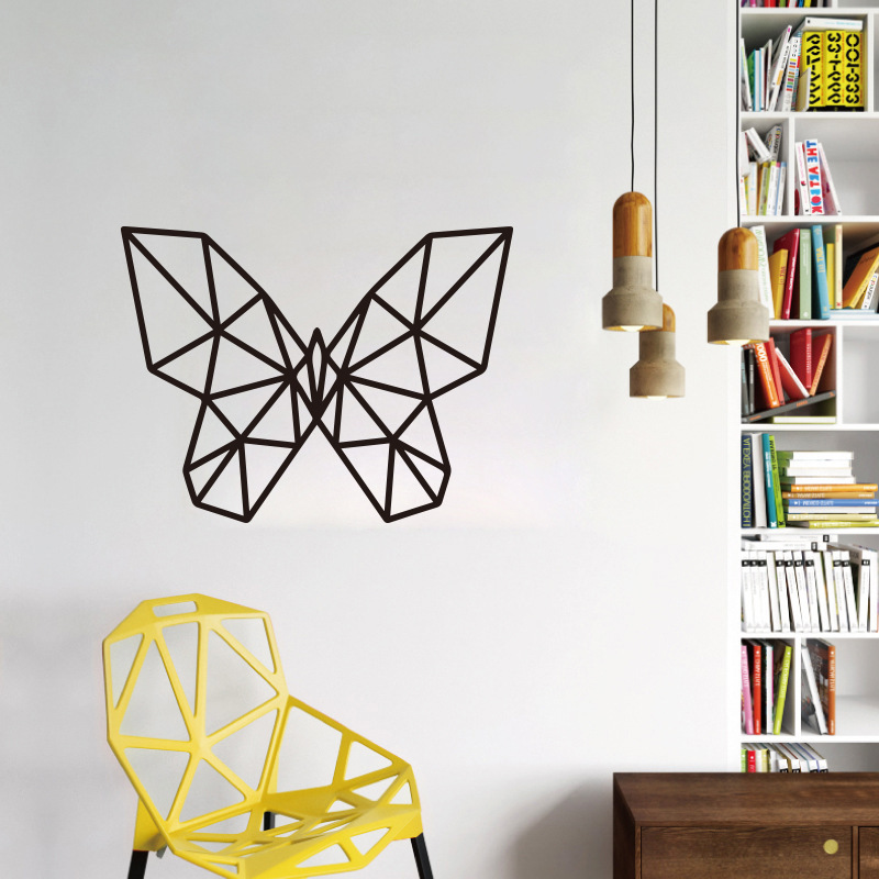 Black Butterfly Wall Stickers PVC Removable Art Wall Decals Wallpaper Self Adhesive Sticker Mural Home Wall Furniture Decoration
