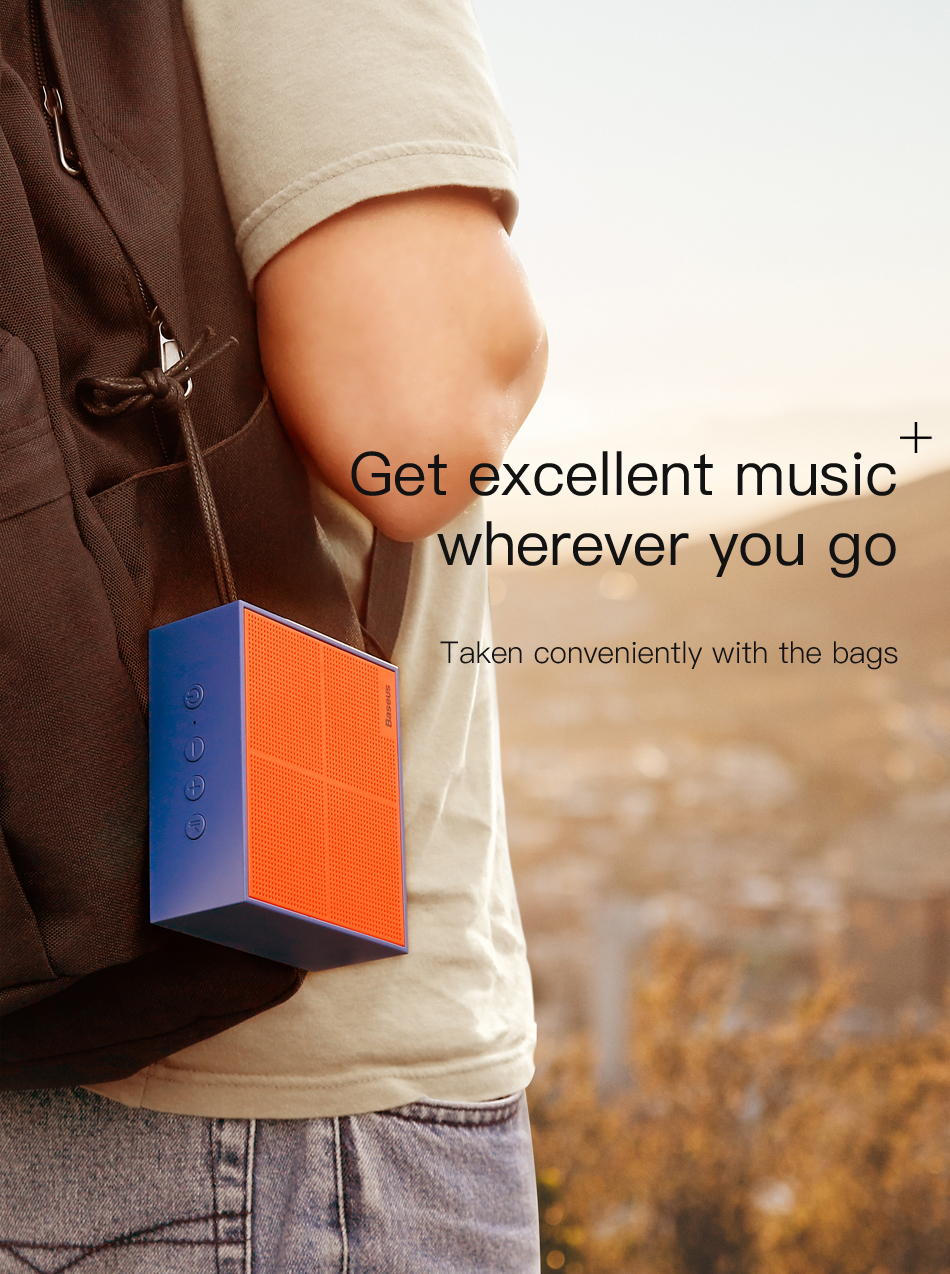 Baseus E05 Portable Bluetooth Speaker For Outdoor With 15 Hours Super Long Play Time 9