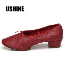 Red PU flat Ballet dance shoes/teacher/practice shoes/zapatos de baile latino mujer/free shipping сумка спортивная nike nike ni464bubwdc0