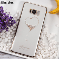 KINGXBAR For Samsung Galaxy S8 Plus G955 Hard Cases Star Series Crystals PC Plated Back Phone