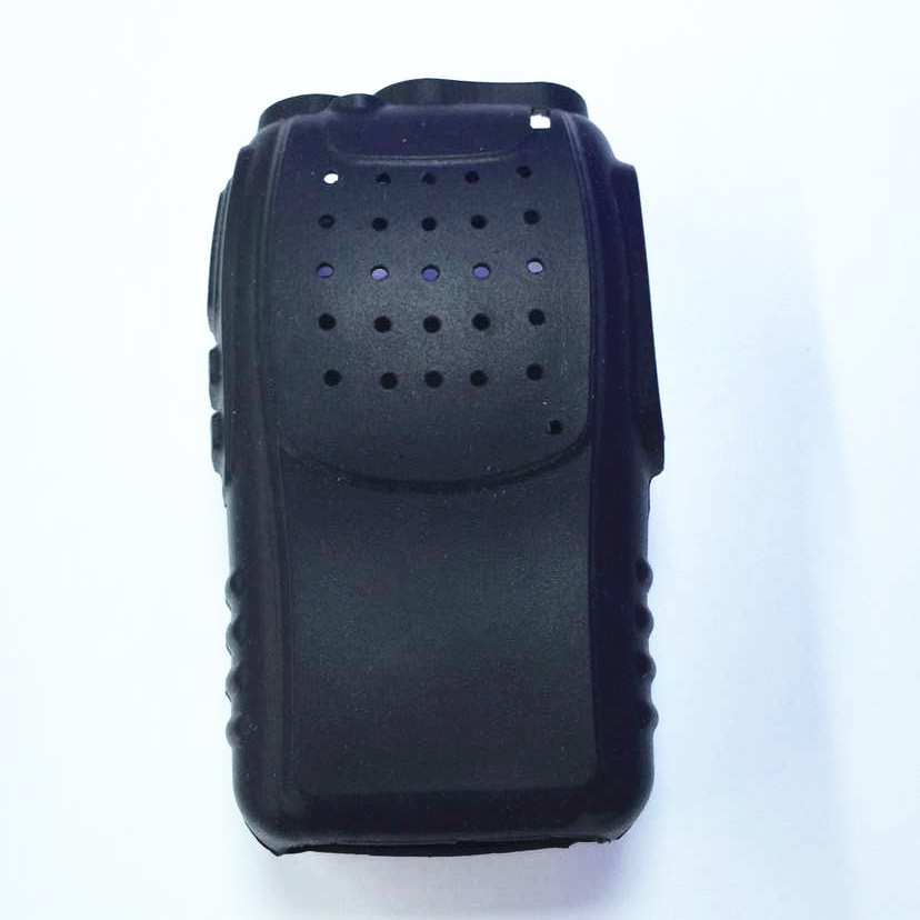 OPPXUN 10PCS Black Rubber Soft Radio Case Holster for Baofeng BF-888s Pofung 888s two way radio walkie talkie
