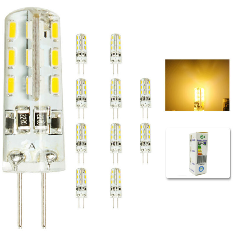 <font><b>10</b></font> <font><b>pcs</b></font>/lot <font><b>G4</b></font> DC12V 3W LED Bulb 24leds SMD 3014 Led Corn Lamp for Crystal Lamp LED Spotlight Bulbs Warm/Cold White image