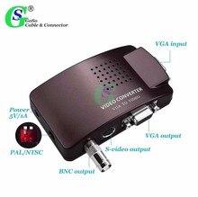 Gusuo Convertitore Video Del Computer VGA a BNC VGA S video Box Video Monitor Ospitante PC Mac Del Computer Portatile Collegato alla TV AV adattatore