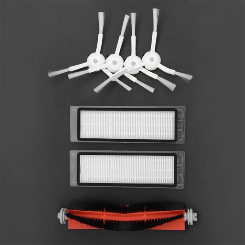 2PCS hepa filter+4PCS side brush+1PCS main brush 7 in 1 parts Suitable for Xiaomi Mi Robot Vacuum Cleaner parts accessories 1pcs main brush suitable for xiaomi mi robot vacuum cleaner parts accessories