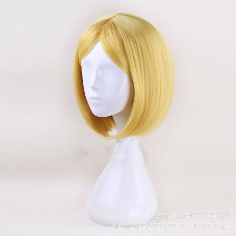 35cm-Short-BOB-Synthetic-Hair-Land-of-the-Lustrous-Yellow-Diamond-Cosplay-Wig-Heat-Resistance-Fiber(2)