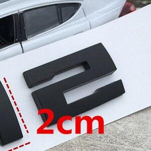 Image 2 - DIY Matte Schwarz für BMW M M1 M2 M3 M4 M5 M6 X1M X2M X3M X4M X5M X6M M550d M50i m135i M240i M335d Emblem Auto Stamm Abzeichen Aufkleber