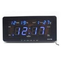 Despertador digital de led eletrônico  com data de temperatura  data de semana  montagem na parede  para sala de estudo  prateleira