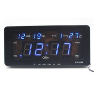 Electronic LED Digital Calendar Alarm Clock with Temperature date and week Desk or Wall Mount for Living Room Study Shelf