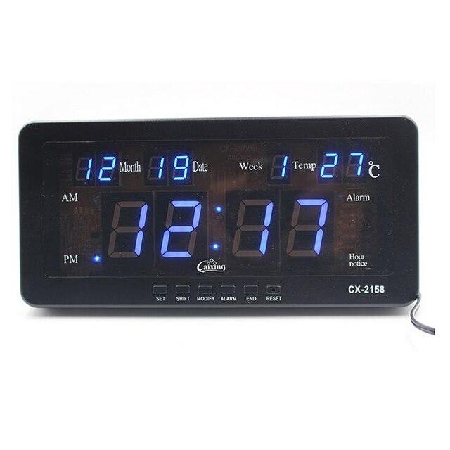 Elektronische LED Digitale Kalender Wekker met Temperatuur datum en ...