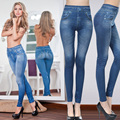 Leggings Jeans for Women Denim Pants  Slim Jeggings Fitness Plus Size Leggins S-XXL Black/Gray/Blue