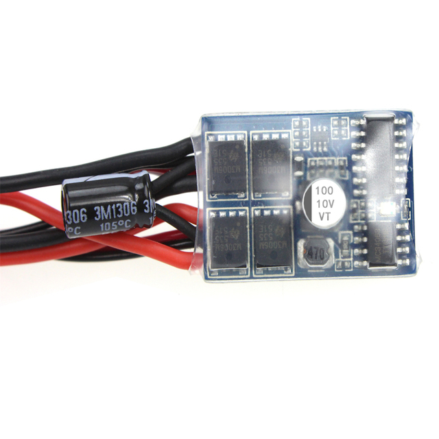F05428 10A Brushed ESC Two-Way Motor Speed Controller with Brake For 1/16 1/18 1/24 RC Car Boat Tank
