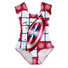 NEW 1217 Sexy Girl Summer Comic The Avengers Captain America 3D Prints add Sleeve One-piece Swimsuit Swimwear women bathing suit