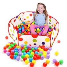 Портативный бассейн детские светящиеся Шестигранник, в горошек Игровая палатка складной детский игровой домик для ползания Океанский мяч детские игровые палатки сумка-тоут игрушка