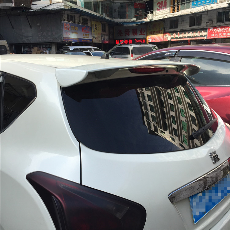 For Nissan Tiida 2010 2011 2012 2013 2014 2015 Car Decoration ABS Plastic Paint Painting Color Rear Trunk Roof Spoiler