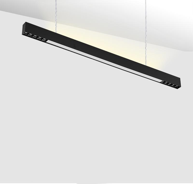 120cm surface mounted LED line light bar creative linear long strip office corridor lamp ceiling & hanging line lamp - 2