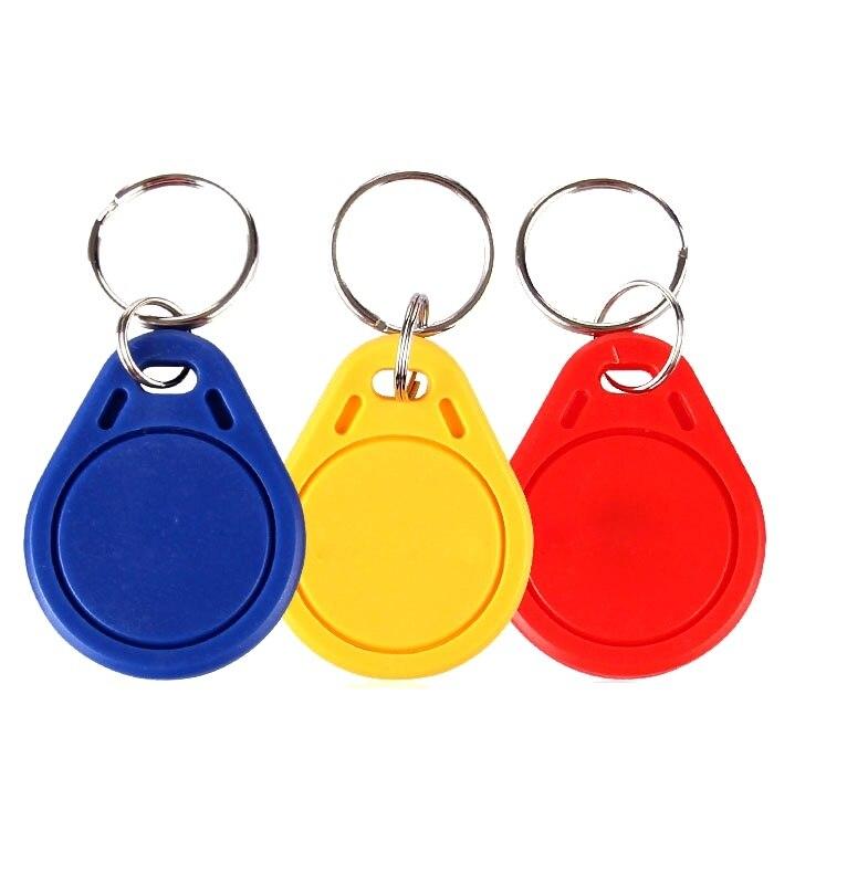 100pcs/bagS50 RFID 13.56 Mhz IC Tag Token Key Ring IC cards Blue F08 chip hw v7 020 v2 23 ktag master version k tag hardware v6 070 v2 13 k tag 7 020 ecu programming tool use online no token dhl free