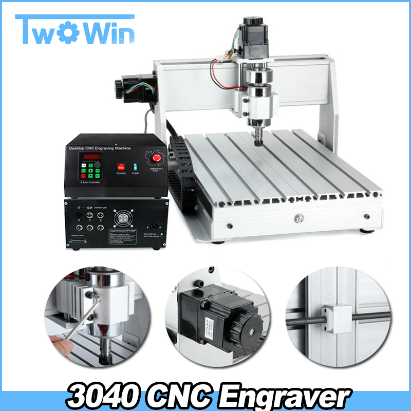 300w/800w/1.5kw Cnc 3040 T-d Three-axis Threads Screw Cnc Router Engraver Engraving Milling Drilling Cutting Machine
