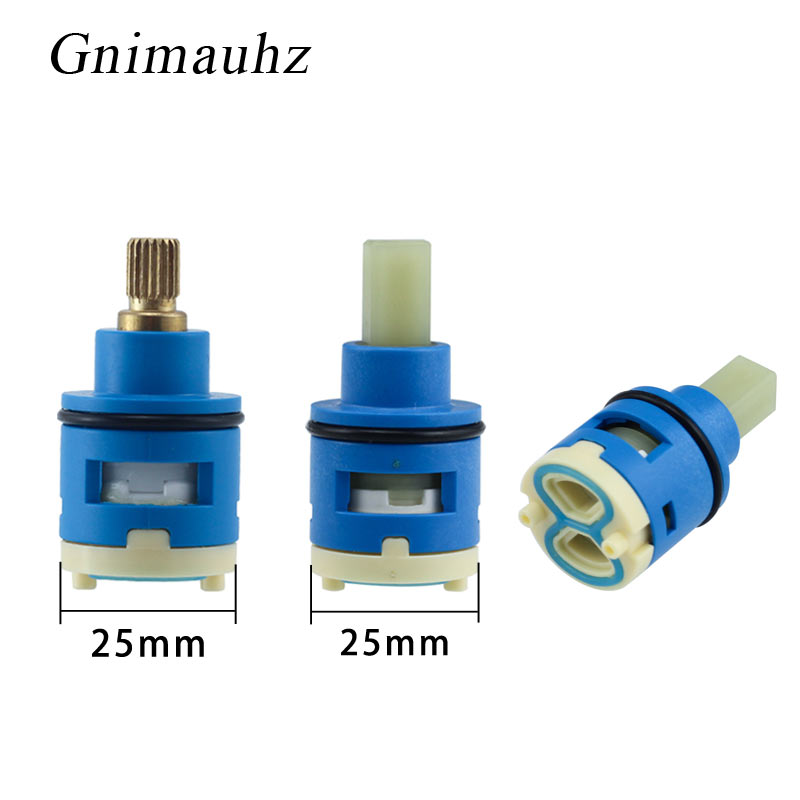 25MM Shower Faucet Ceramic Spool/Shower Sprinkler Water Separator Two-Hole Diversion Valve Core/Bathroom Accessories Fittings