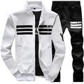 OutsideMen Jacket + pants zipper Hombres s Traje conjunto masculino Chándal Sudaderas hombre Sudaderas + sportswear hombres de blanco Libre libre B55