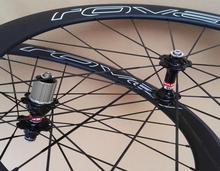 Ширина 23 мм 700C oem стикер полный углеродного волокна дорожный велосипед довод колеса 50 мм Бесплатная доставка