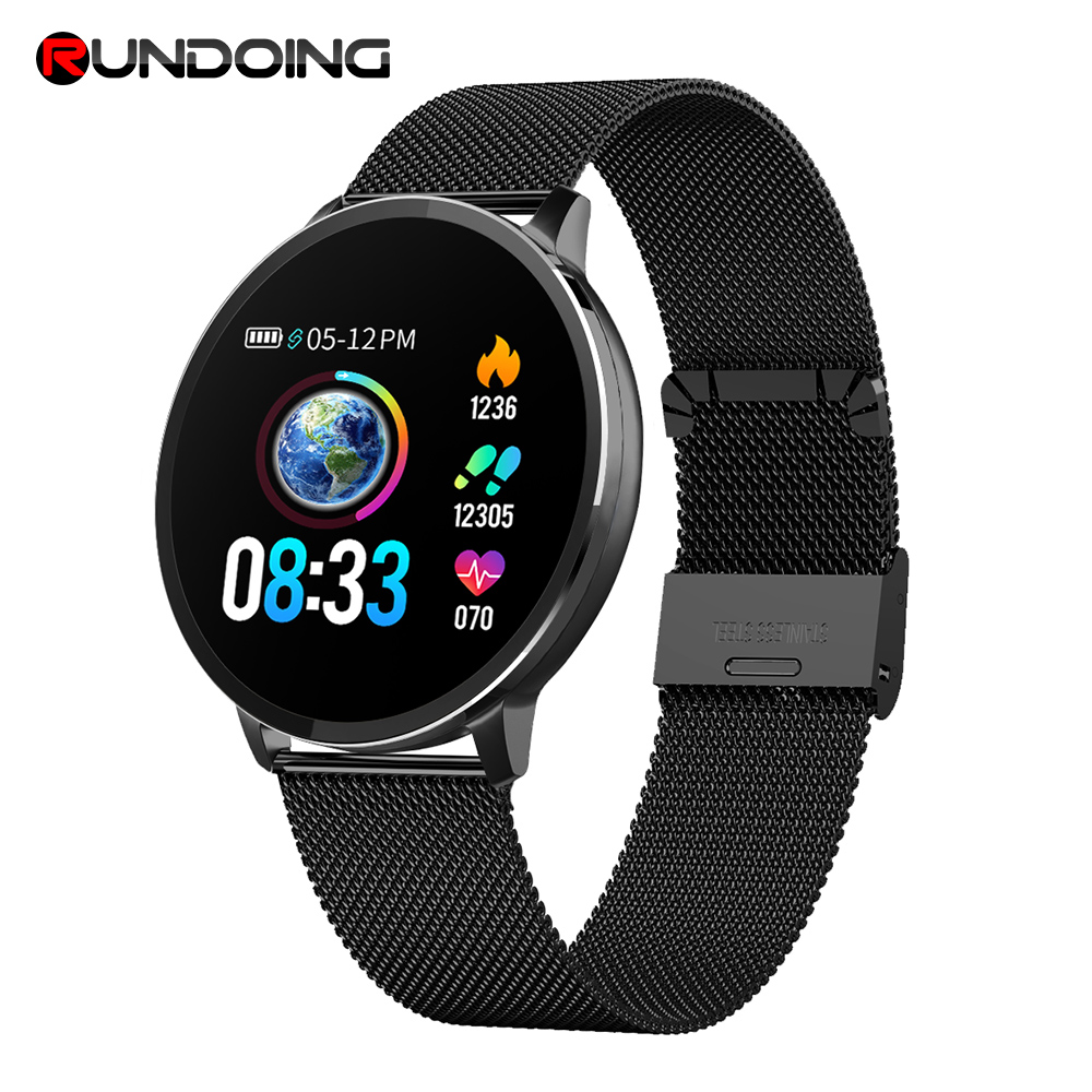 Rundoing NY03 Smart Watch IP68 waterproof Heart rate monitor Smartwatch Message reminder Fitness tracker For Android and IOS new garmin watch 2019