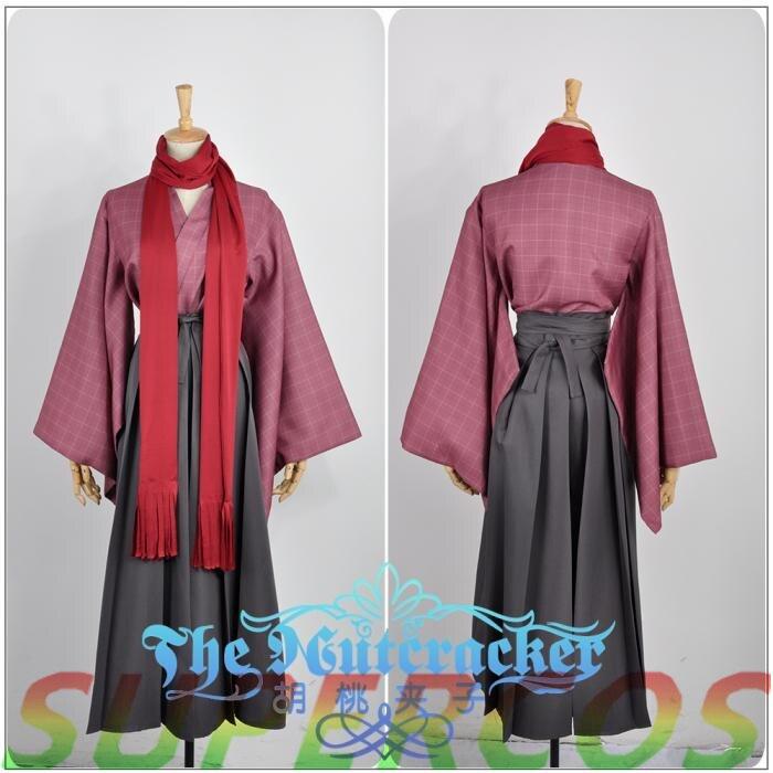 Doprava zdarma! Touken Ranbu Online Yamatonokami Yasusada Plaid tisk Kimono Cosplay kostým, perfektní přizpůsobené pro vás!