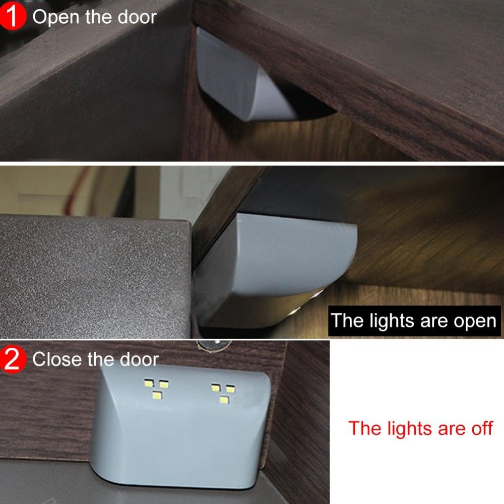 Us 231 35 Offbatterij Led Night Lamp Pir Infrarood Motion Sensor Licht Keuken Innerlijke Scharnier Lade Kast Kledingkast Closet Onder Kast Licht