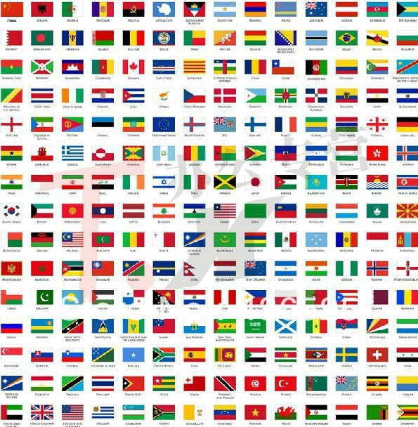 wholesale national flag all the countries in the world small flags