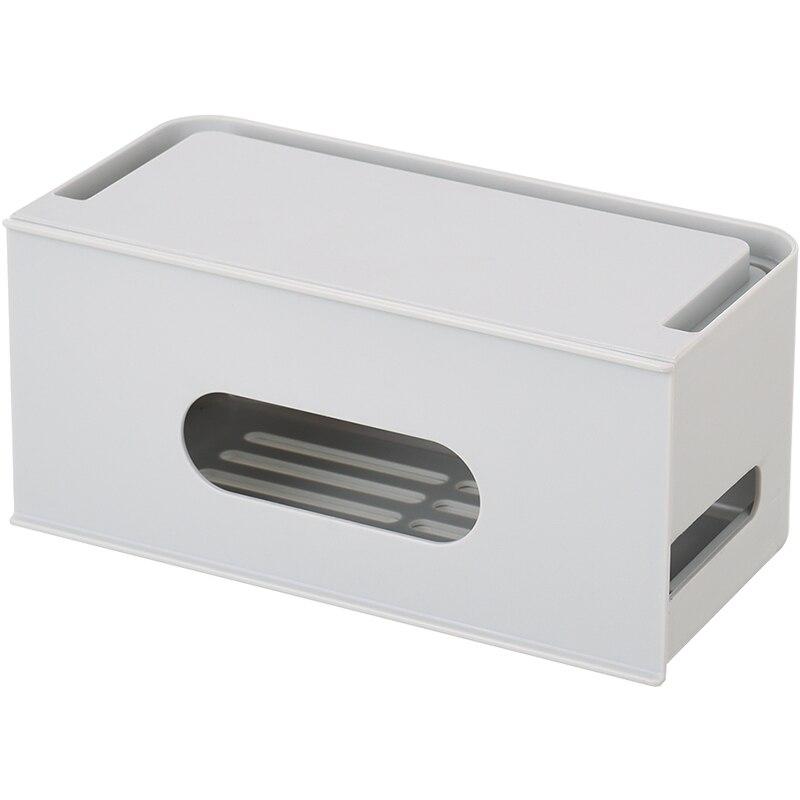 Rangement de bureau cordon d'alimentation enfichable boîte de Rangement Home grande boîte d'organisateur de fil en plastique - 5