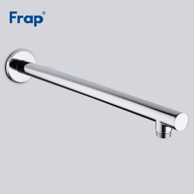 Frap New Chrome Wall Mounted Shower Arm Bathroom Shower Head Bracket Bar Shower Head Fixed Pipe Shower Head Holder Y81020