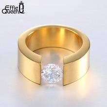 Wiredrawing whosesale bague стальные titanium циркон обручальное homme кольца нержавеющей кольцо