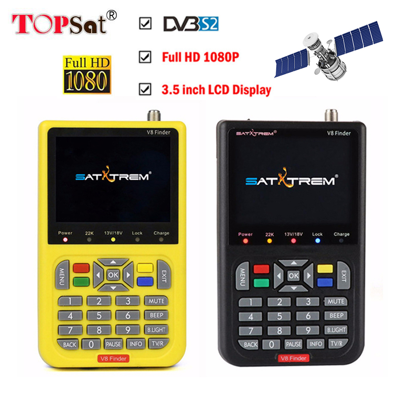 Satellite Finder Meter V8 Finder HD DVB-S2 SatFinder MPEG2 MPEG4 with 3000mA Battery Satxtrem V8 Finder FTA Sat finderSatellite Finder Meter V8 Finder HD DVB-S2 SatFinder MPEG2 MPEG4 with 3000mA Battery Satxtrem V8 Finder FTA Sat finder